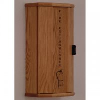 Fire Extinguisher Cabinet - 5 lb. capacity - Light Oak