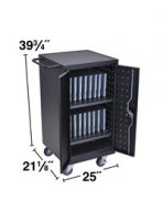 Ipad, Tablet, Laptop and Chromebook Locking Cart with Charging Station , Holds and Charges 18 Devices