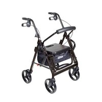 Duet Transport Wheelchair Chair Rollator Walker - Blue