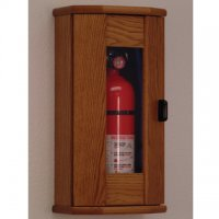 Fire Extinguisher Cabinet - 10 lb. capacity - Medium Oak