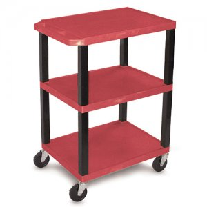 34 Inch Open Shelf Medical Utility Supply Cart - WT34S Colors