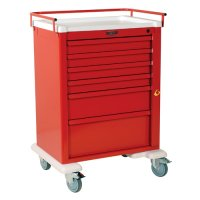 Universal 6 Drawer Aluminum Emergency Crash Cart - Breakaway Lock