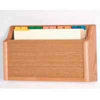 Single - Square Bottom Legal Size File Holder - Light Oak