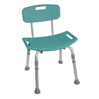 Bath and Shower Seat / Chair with Back - Teal Deluxe Designer Series