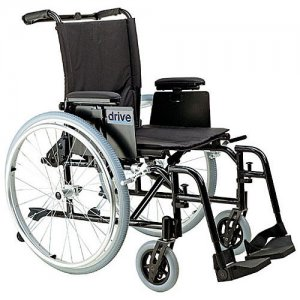 Cougar Ultra Light Wheelchair with Detachable Desk Arms and Swing-Away