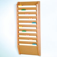 10 Pocket Legal Size File Holder - Light Oak