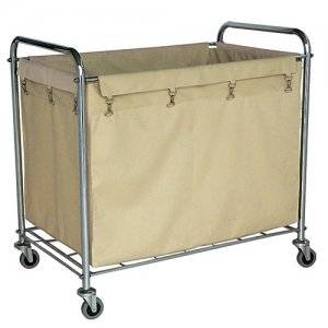 Heavy Duty Commercial Rolling Laundry Utility Cart on Wheels with Removable Bag