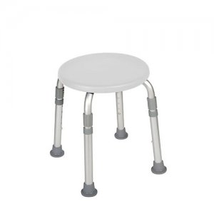 Bath and Shower Stool - Adjustable Height - Designer Series - White