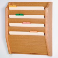 4 Pocket Legal Size File Holder - Light Oak