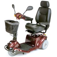 Burgundy Pilot 3-Wheel Power Scooter with 20 inch Captain's Seat