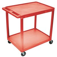 Large 2 Shelf Medical Utility Cart - Gray, Red, Blue, Putty - HE38