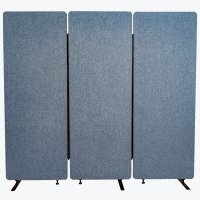 Acoustic Office Wall and Room Partition Dividers, 3-Pack in Pacific Blue