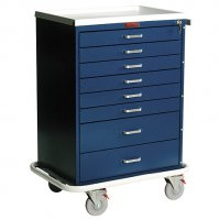 8 Drawer Specialty Medical Anesthesia Cart - Key Lock