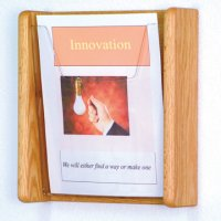 1 Pocket Acrylic and Oak Literature Wall Display Rack - Light Oak