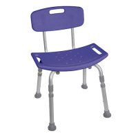 Bath Tub Seat / Chair with Back - Blue Deluxe Designer Series