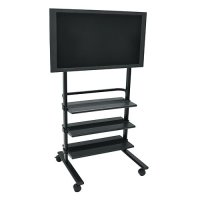Luxor Mobile TV Stand / Mount for Flat Panel TV with 3 Shelves - Black