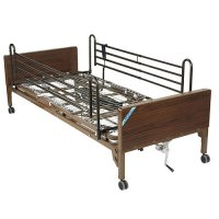 Ultra Light Plus Electric Low Hospital Patient Bed - Full Side Rails
