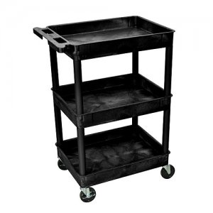 3 Tub Shelf Supply Cart with 4 inch Casters - STC111