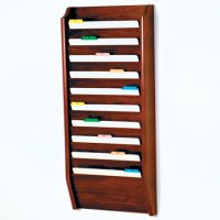 10 Pocket Legal Size File Holder - Mahogany