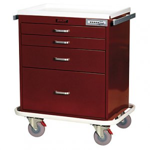 4 Drawer Specialty Medical Anesthesia Cart - Combination Lock