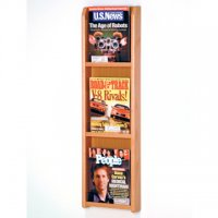 3 Magazine Wall Display - Light Oak
