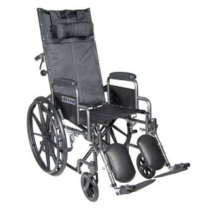 Silver Sport Reclining Wheelchair with Detachable Desk Arms