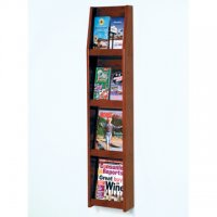 8 Pocket Literature Display - 4Hx2W - Mahogany