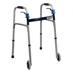 Aluminum Folding Medical or Elderly 2 Wheeled Walker - Trigger Release
