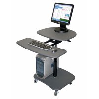 Hydraulic Adjustable Multi-Media Workstation - LAMC3037