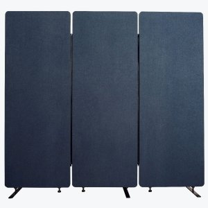 Acoustic Office Wall and Room Partition Dividers, 3-Pack in Starlight Blue