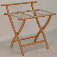 Light Oak Luggage, Suitcase, or Briefcase Rack - Tapestry Straps