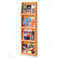 12 Pocket Literature Display - 4Hx3W - Light Oak