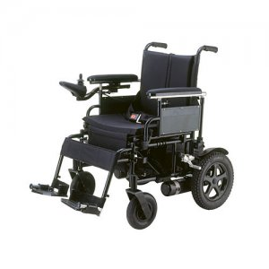 Cirrus Plus Folding Power Wheelchair with Footrest and Batteries