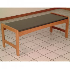 Coffee Table w/ Black Granite Look Top - Medium Oak
