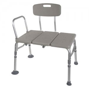 Adjustable and Reversible Plastic Bath and Shower Transfer Bench/Seat