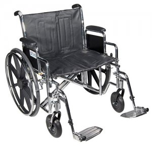 Sentra EC Wheelchair with Detachable Full Arms and Swing- Away Footres