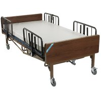 Bariatric Electric Hospital Patient Bed - Rails - Mattress - 54 Inch