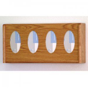 4 Pocket Glove/Tissue Box Holder - Oval - Medium Oak