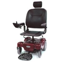 Red Renegade Power Wheelchair with 20 inch Pan Seat