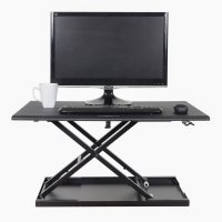 Pneumatic Adjustable Stand Up Desk Converter - 32 Inch Wide - Converts Any Surface into a Standing Desk