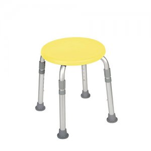 Bath and Shower Stool - Adjustable Height - Designer Series - Yellow
