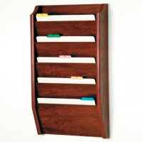 5 Pocket Legal Size File Holder - Mahogany