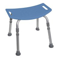 Bath and Shower Bench / Chair without Back - Aluminum Deluxe - Blue