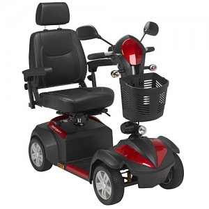 Ventura 4 Wheel Electric Mobility Scooter with 18 inch Captain Seat