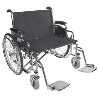 Sentra EC Heavy-Duty Wheelchair with Extra Wide Detachable Full Arms
