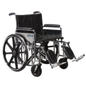 Sentra EC Wheelchair with Detachable Full Arms and Elevating Legrests