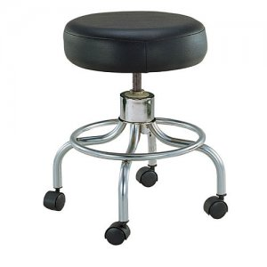 Deluxe Wheeled Round Stool