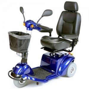 Blue Pilot 3-Wheel Power Scooter with 18 inch Captain's Seat