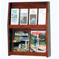 8 Pocket Literature Display - 2Hx4W - Medium Oak