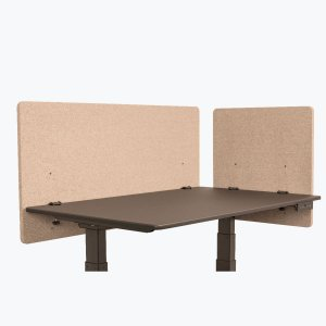 Office Desk Divider Acoustical Privacy Partition Panels, Desert Sand, 2-Pack, 48 and 24 Inch